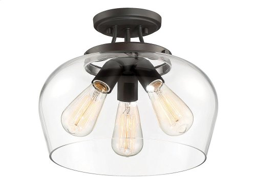 Octave 3 Light Semi Flush