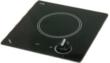 120V single burner cooktop with black ceramic glass surface