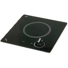120V single burner cooktop with black ceramic glass surface