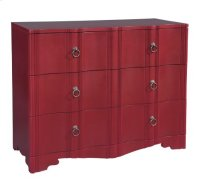 Three Drawer Case with Shaped Front-Red Product Image