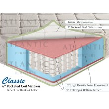 "Classic Pocket Coil Mattress 6"" Twin"