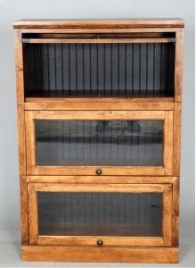 "#522-3 Lawyer Bookcase 3 piece 33""wx14""dx49.5""h"