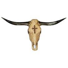 Tan Cross Jeweled Head
