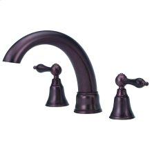 Oil Rubbed Bronze Fairmont 2H Roman Tub Trim Kit w/out Spray