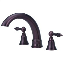 Oil Rubbed Bronze Fairmont 2H Roman Tub Trim Kit w/out Spray