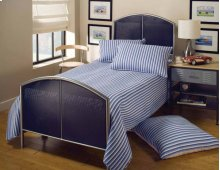 Brayden Mesh Twin Duo Panel Silver and Navy - MUST ORDER 2 PANELS FOR COMPLETE BED SET