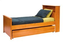Dover Bookcase Bed, 2 Position Ply Side Rails, Wooden Slats