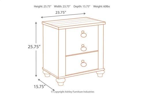 B267 Two Drawer Nightstand
