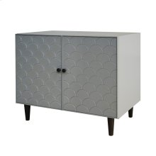 Weston KD Scaled Moroccan Cabinet Black Legs, Gray