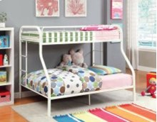 Twin/full Metal Bunk Bed (wh)