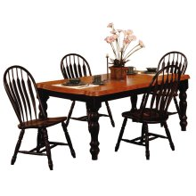 DLU-SLT4272-4130-AB5PC  5 Piece Extendable Dining Set with Comfort Back Chairs