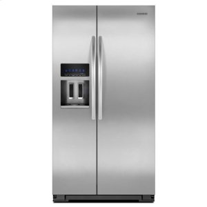 KitchenAidMonochromatic Stainless Steel KitchenAid® 35 1/2-Inch, 26 Cu. Ft. Standard-Depth Side-by-Side Refrigerator