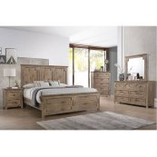 1055 Sante Fe Queen Bed with Dresser and Mirror