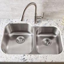 Portsmouth Undermount Double Bowl Kitchen Sink  American Standard - Stainless Steel