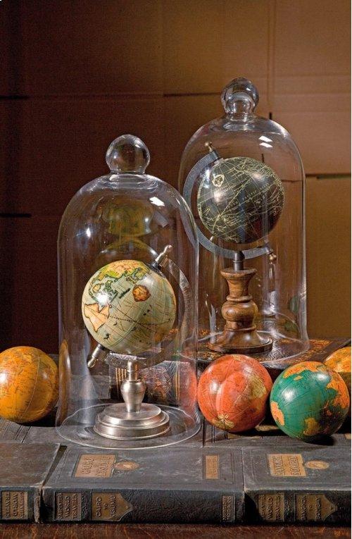 "Antique Finish Globe 4"" Spheres - Set of 4"
