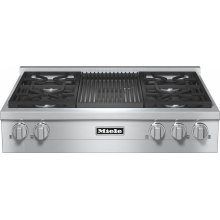 KMR 1135-1 G RangeTop with 4 burners and grill for versatility and performance