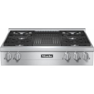 MieleKMR 1135 LP RangeTop with 4 burners and grill for versatility and performance