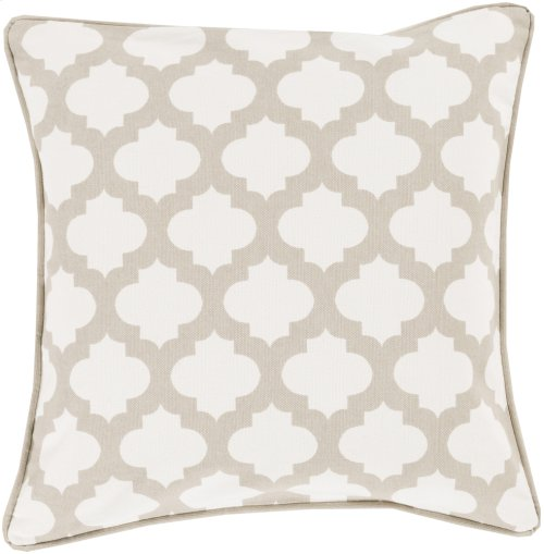 "Morrocan Printed Lattice MPL-007 22"" x 22"" Pillow Shell with Polyester Insert"
