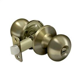 Portland Knob Privacy - Antique Brass