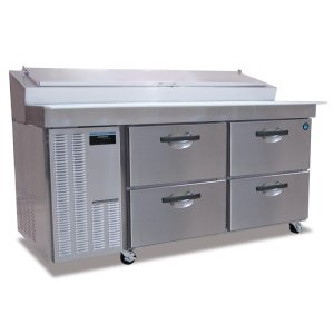HoshizakiRefrigerator, Two Section Raised Rail Prep Table with Drawers