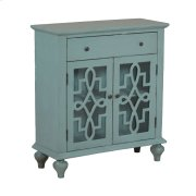 Blue Fretwork Console Product Image