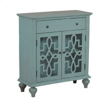 Blue Fretwork Console