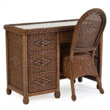 3700 Series Wicker 4 Drawer Desk and Desk Chair Coffee Bean