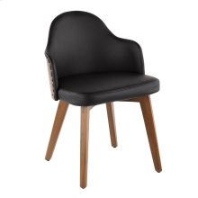 Ahoy Chair - Walnut Bamboo, Black Pu, Brass Metal