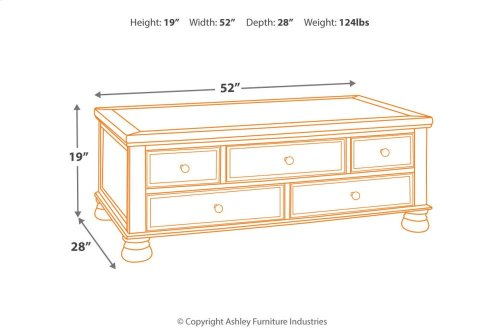 T71620  Cocktail Table with Storage