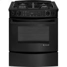 "Slide-In Dual-Fuel Range with Convection, 30"", Black Floating Glass w/Handle Product Image"