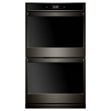 Whirlpool® 10.0 cu. ft. Smart Double Wall Oven with True Convection Cooking - Black Stainless