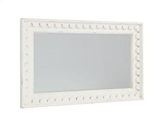 Jo's White Short Scallop Mirror