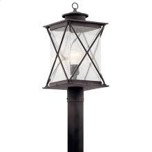 Argyle 1 Light Post Light with LED Bulb Weathered Zinc