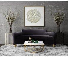 Oslo Black Herringbone Sofa Product Image