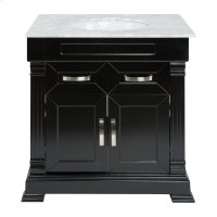 Single 31 in. W Black Finish Vanity Product Image