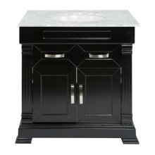 Single 31 in. W Black Finish Vanity