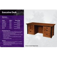Hickory Executive Desk