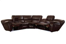 POWER Left Side Reclining Love Seat with Center Console and LED