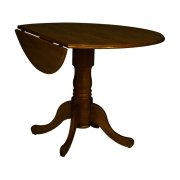 Round Dropleaf Pedestal Table in Espresso Product Image