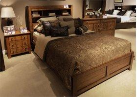 King Bookcase Bed, Dresser & Mirror