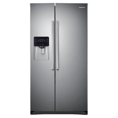 """36"""" Wide, 24.5 cu. ft. Capacity Side-By-Side Refrigerator with LED Lighting (Stainless Steel) Product Image"""