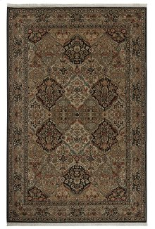 Empress Kirman Black Rectangle 5ft 9in x 9ft