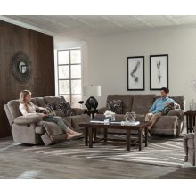 Reclining Console Loveseat w/Storage and Cupholders