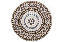 "Tremiti 24"" Round Bistro Ceramic Table Top and Iron Base"