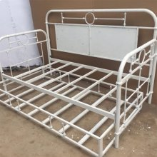 Twin Metal Day Bed - Antique White