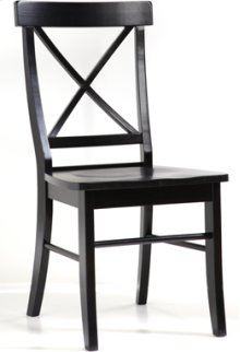 X Back Chair Black