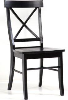 X Back Chair Black