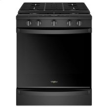 Whirlpool® 5.8 Cu. Ft. Smart Slide-in Gas Range with EZ-2-Lift Hinged Cast-iron Grates - Black