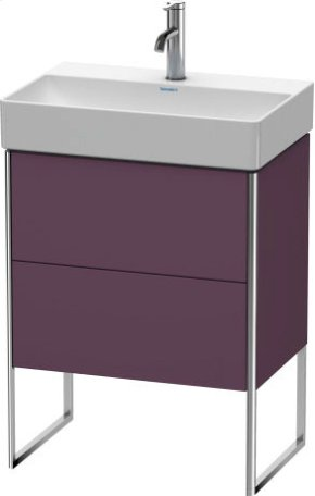 Vanity Unit Floorstanding Compact, Aubergine Satin Matt Lacquer