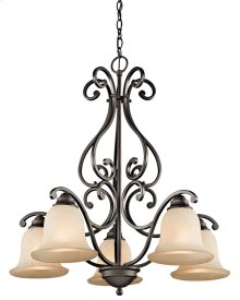 Camerena 5 Light Down Chandelier Olde Bronze®